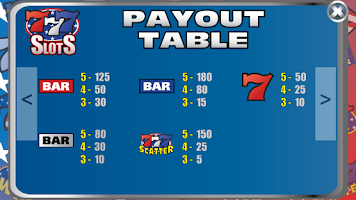 Screenshot of Triple 7 Cash Slot Machine