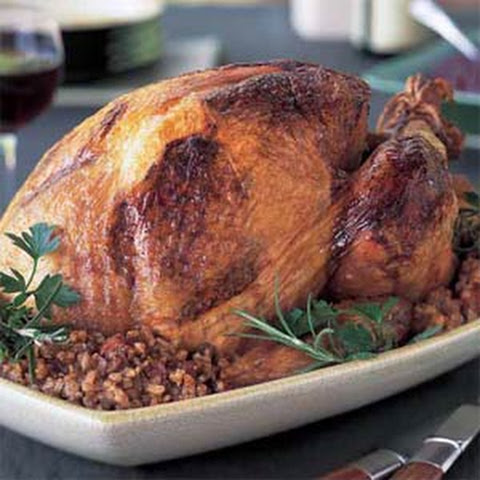 Cajun Turkey with Dirty-Rice Stuffing