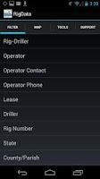 Screenshot of RigData Mobile