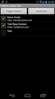 Screenshot of Contact Lookup Fast