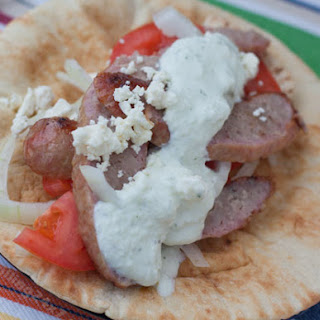 Brat Gyro By Grilling24x7.com Published 12/11/2012 An easy way to make homemade gyros using grilled brats with a great tzatziki sauce.