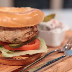Turkey Burgers With Mixed Bean Salad
