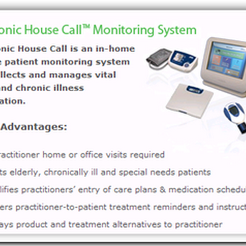 Vendors Partner for In-Home Monitoring – Physicians connect to patients at home…