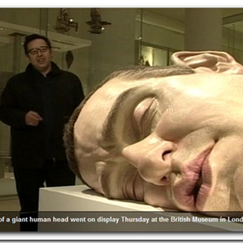 Giant Human Head Statue – Ugly!