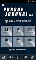 Screenshot of Pursue Journal and Bible