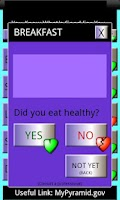 Screenshot of Yes No Diet Tracker FREE