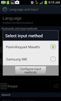 Screenshot of PaniniKeypad Marathi IME