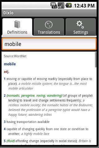 Dixio the Smart Dictionary