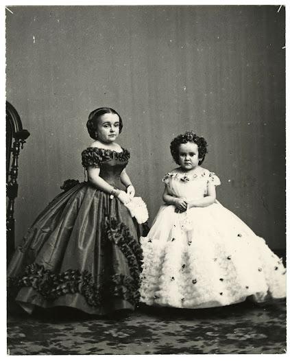 Lavinia Warren and Minnie Warren, ca. 1865