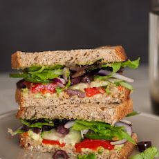 Simple Greek Avocado Sandwich