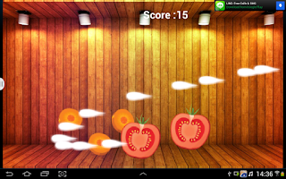 Screenshot of Vegetable Ninja