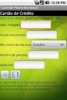 Screenshot of Controle Financeiro Anual