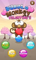 Screenshot of Bubble Monkey Valentine's Day!