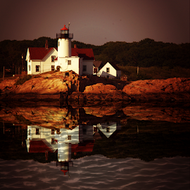 Somewhere in Maine by Janet Lyle - Buildings & Architecture Other Exteriors ( lighthouse )