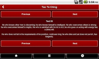 Screenshot of Tao Te Ching FREE