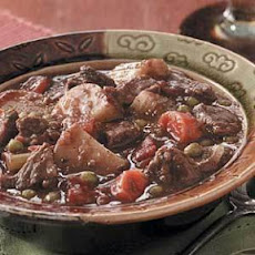 Baked Beef Stew (tapioca and marjoram)