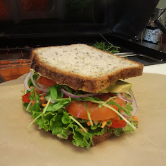 Veggie Sandwich made with our house-baked GF bread and choice of fresh tasty spreads.