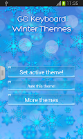 Screenshot of GO Keyboard Winter Themes