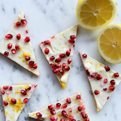 POMEGRANATE & LEMON COOKIE BARS