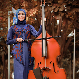 The Musican in Hijabers by Iqbal Organizer - People Portraits of Women ( canon, model, modelling, beauty, fashion photography, hijab, iqbalorganizer, photography,  )