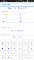 Screenshot of NaN Quadratic Function Pro