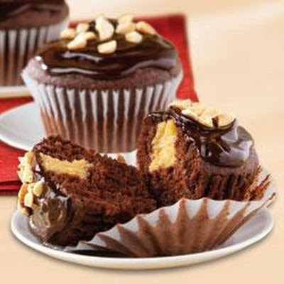 Chocolate-Peanut Butter Cupcakes by KRAFT