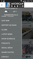 Screenshot of Michigan Radio App V4