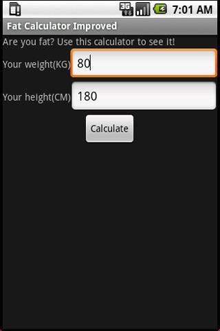 Fat Calculator Improved