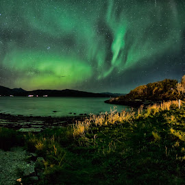 Camp by Rune Nilssen - Landscapes Starscapes ( nprway, camp, borealis, aurora, nordland, lodingen )
