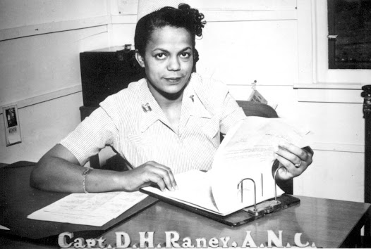 Major Della H. Raney was the first African American woman commissioned in the Army Nurse Corps, in 1942. During previous conflicts, African Americans were barred from the Army Nurse Corps, and instead worked for the American Red Cross.