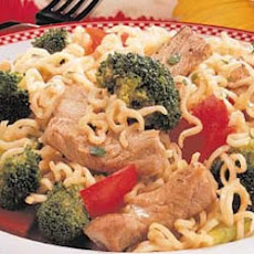 Curly Noodle Pork Supper