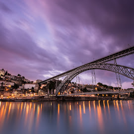 From Porto with love by Hugo Só - Buildings & Architecture Bridges & Suspended Structures ( só, le, d7100, bridge, portugal, hugo so, nikon, douro, hugo, porto, river )