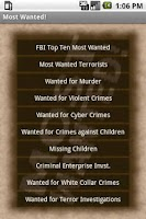 Screenshot of Most Wanted! Free