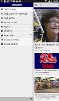 Screenshot of WDAM Local News