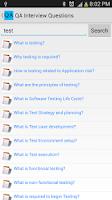 Screenshot of QA Interview Questions