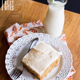 Apple Spice Snack Cake with Brown Butter Frosting
