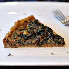 Savory yet Sweet Bacon, Chard, and Walnut Tart