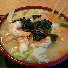 Ramen and Shrimp Soup
