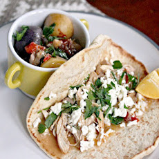 Mediterranean Chicken, Feta, and Herb Wrap With Stewed Potatoes