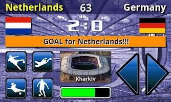 Screenshot of EURO 2012 Football/Soccer Game