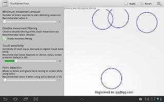 Screenshot of TouchScreenTune