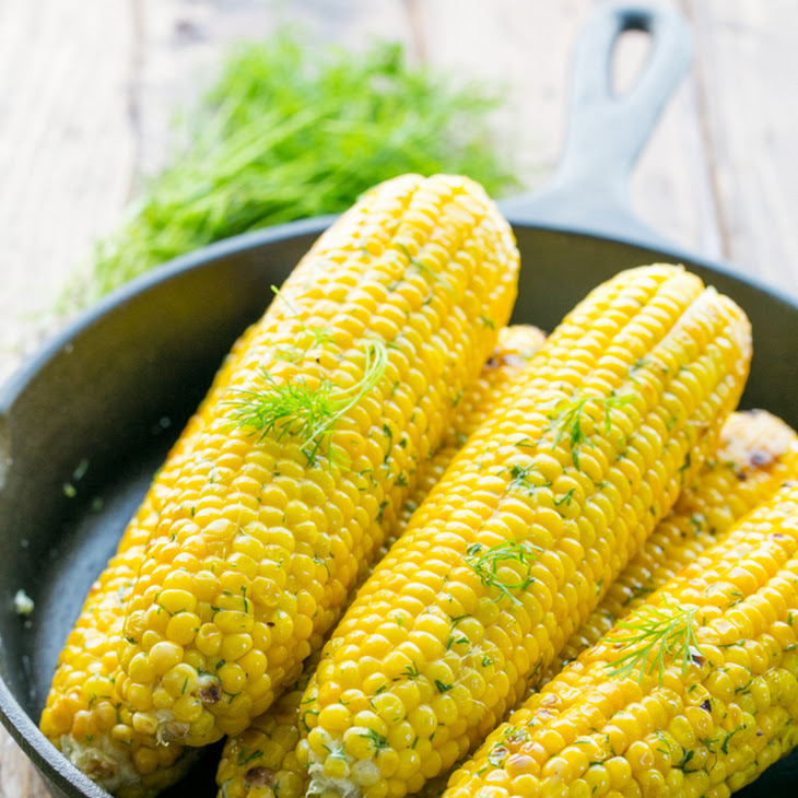 Easy Grilled Corn on the Cob with Lemon Dill Butter Recipe | Yummly