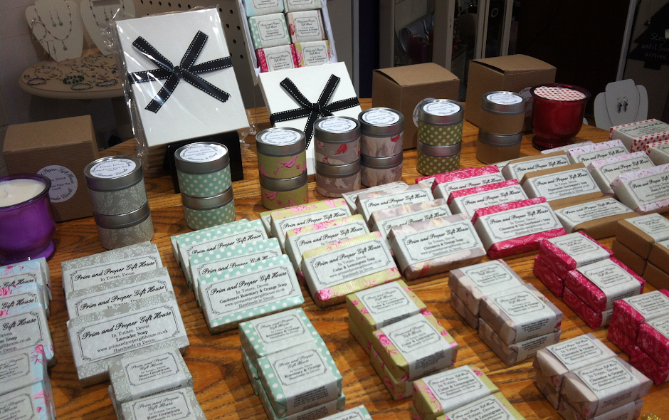 handmade soaps from Devon