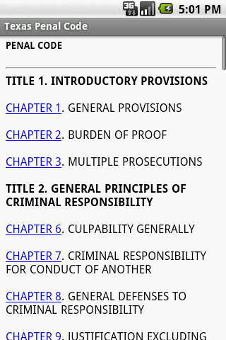 Texas Penal Code Reference