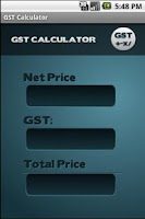 Screenshot of GST Calculator