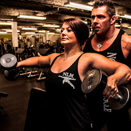 Let me Spot you by Brad Chapman - People Couples ( inshape, spot me, weights, fitness, muscles, gym )