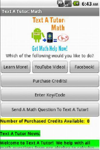 Text A Tutor: Math Tutoring