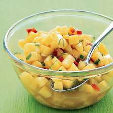 Mango Salsa With Chile Oil