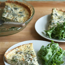 Spring Leek and Fiddlehead Quiche