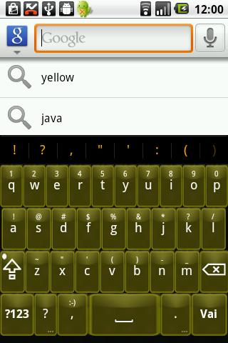 【免費個人化App】Yellow Glass Keyboard Skin-APP點子
